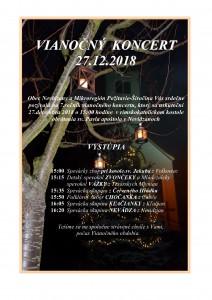 Plagát Vianočný koncert Nevidzany JPG