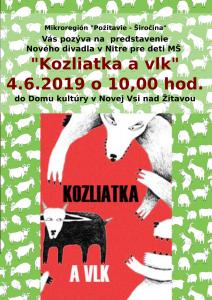 plagát divadielko Kozliatka a vlk