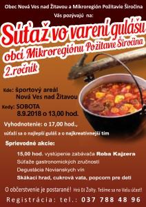 plagát súťaž vo varení gulášu Nová Ves nad Žitavou